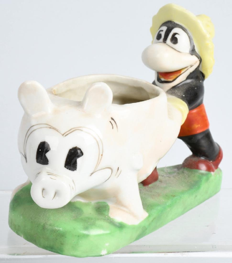 1930'S FLIP the FROG & MICKEY MOUSE BISQUE FIGURE - 2