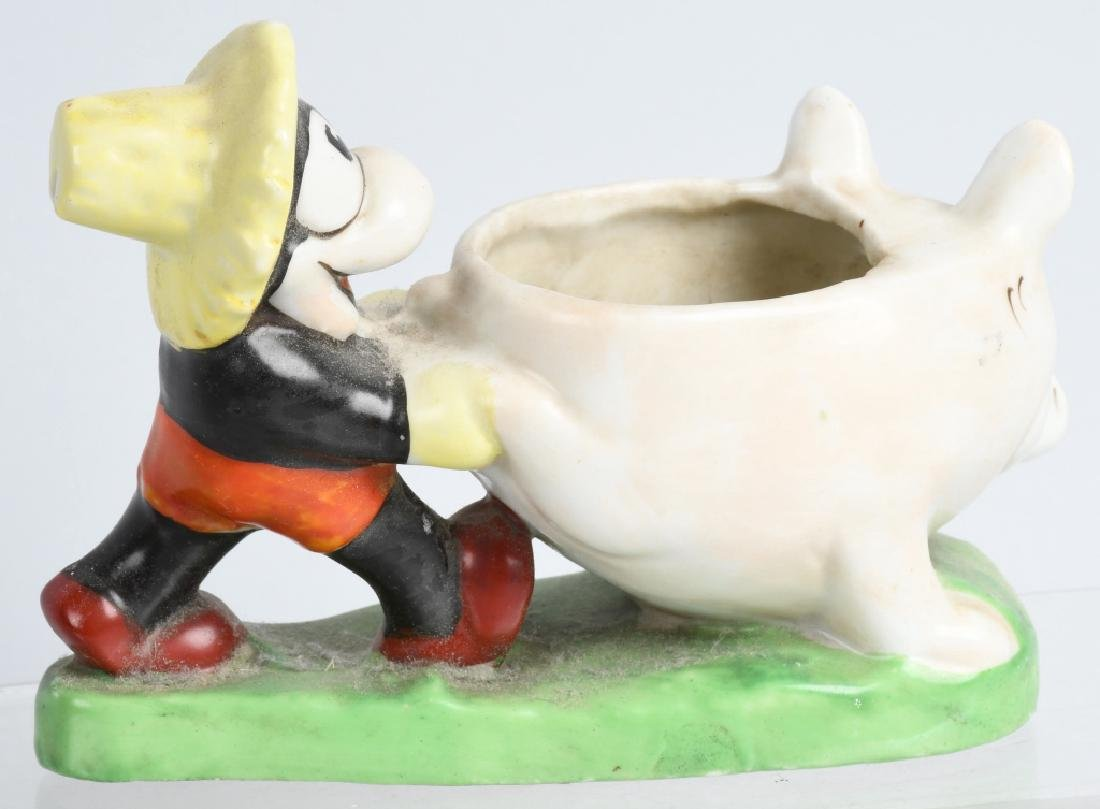 1930'S FLIP the FROG & MICKEY MOUSE BISQUE FIGURE - 3