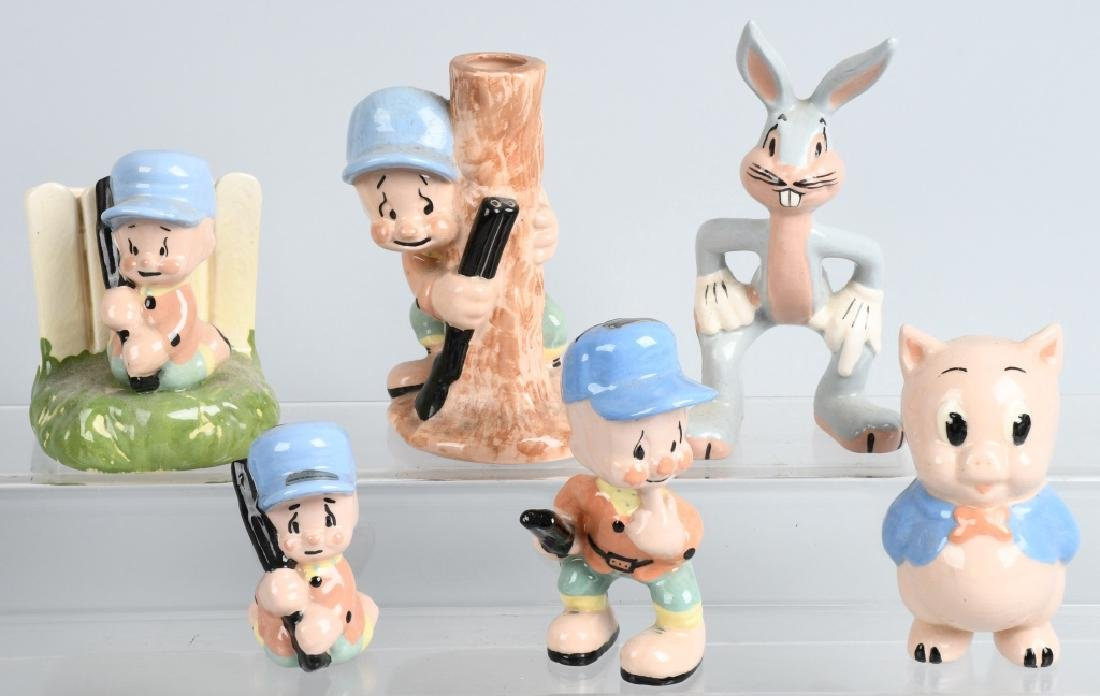 6-1940'S SHAW POTTERY LOONIE TUNES FIGURES