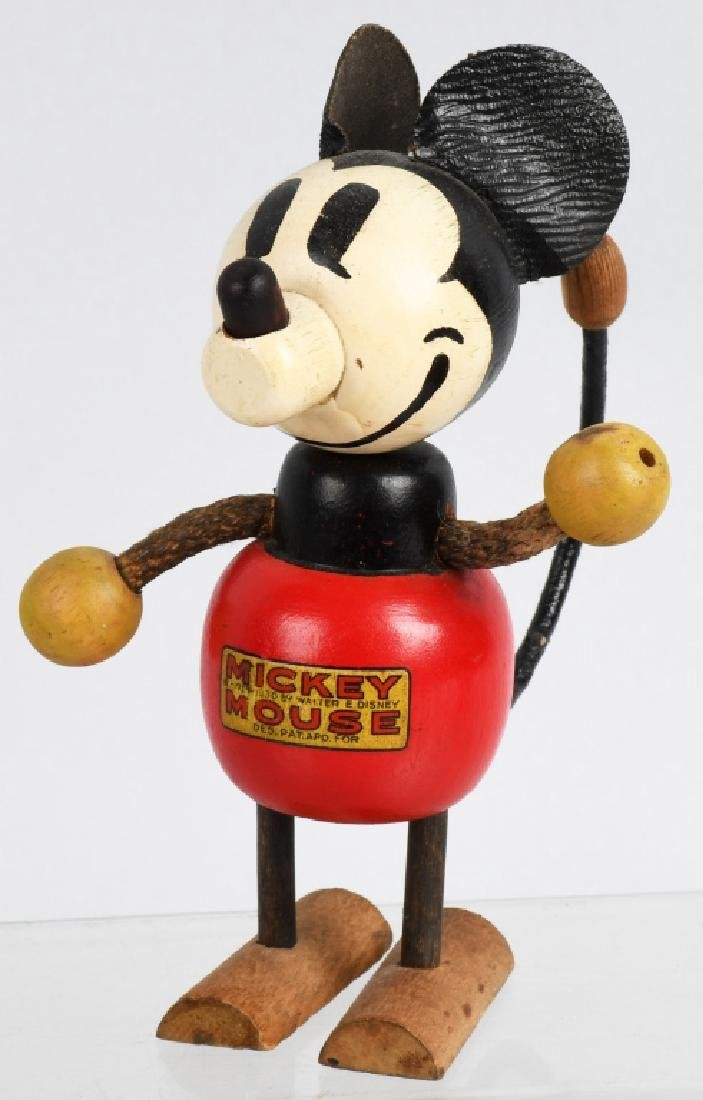 1930'S RARE POP UP HEAD MICKEY MOUSE WOOD DOLL