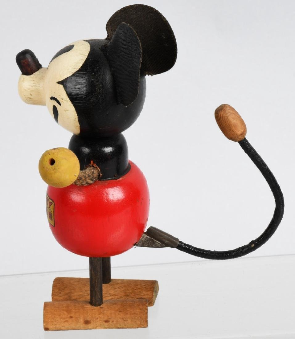 1930'S RARE POP UP HEAD MICKEY MOUSE WOOD DOLL - 2