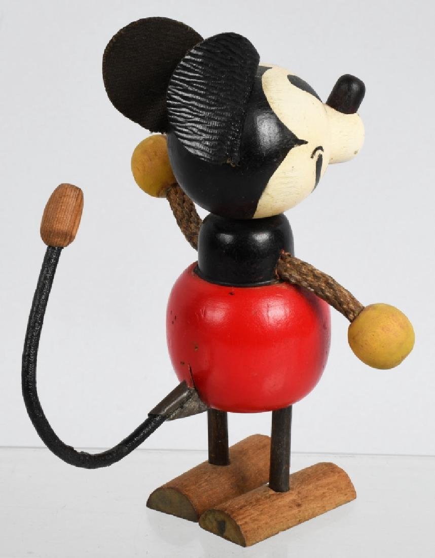 1930'S RARE POP UP HEAD MICKEY MOUSE WOOD DOLL - 3
