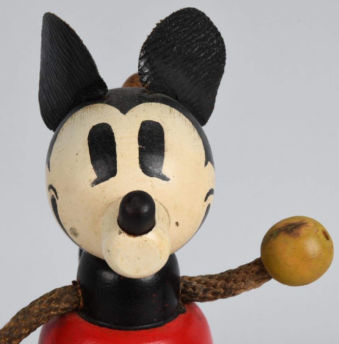 1930'S RARE POP UP HEAD MICKEY MOUSE WOOD DOLL - 6