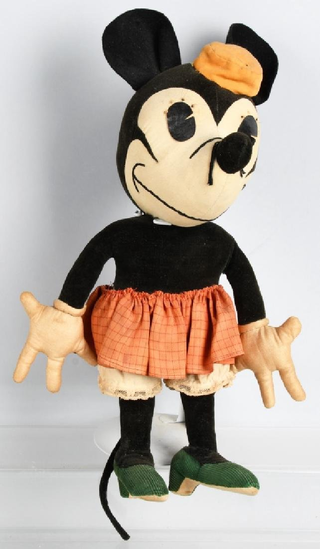1930'S CHARLOTTE CLARK LARGE MINNIE MOUSE DOLL
