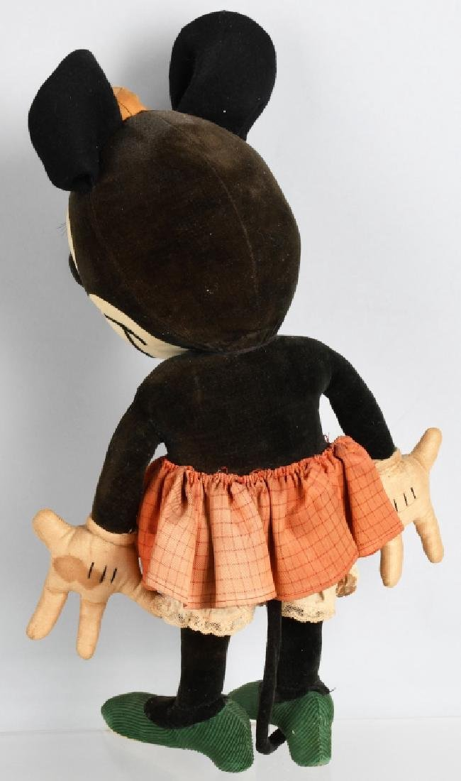 1930'S CHARLOTTE CLARK LARGE MINNIE MOUSE DOLL - 4