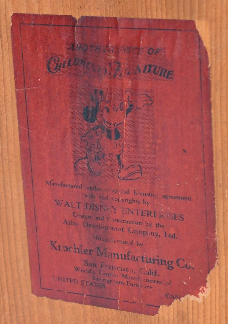 1930'S MICKEY 7 MINNIE MOUSE CHILD'S TABLE - 4
