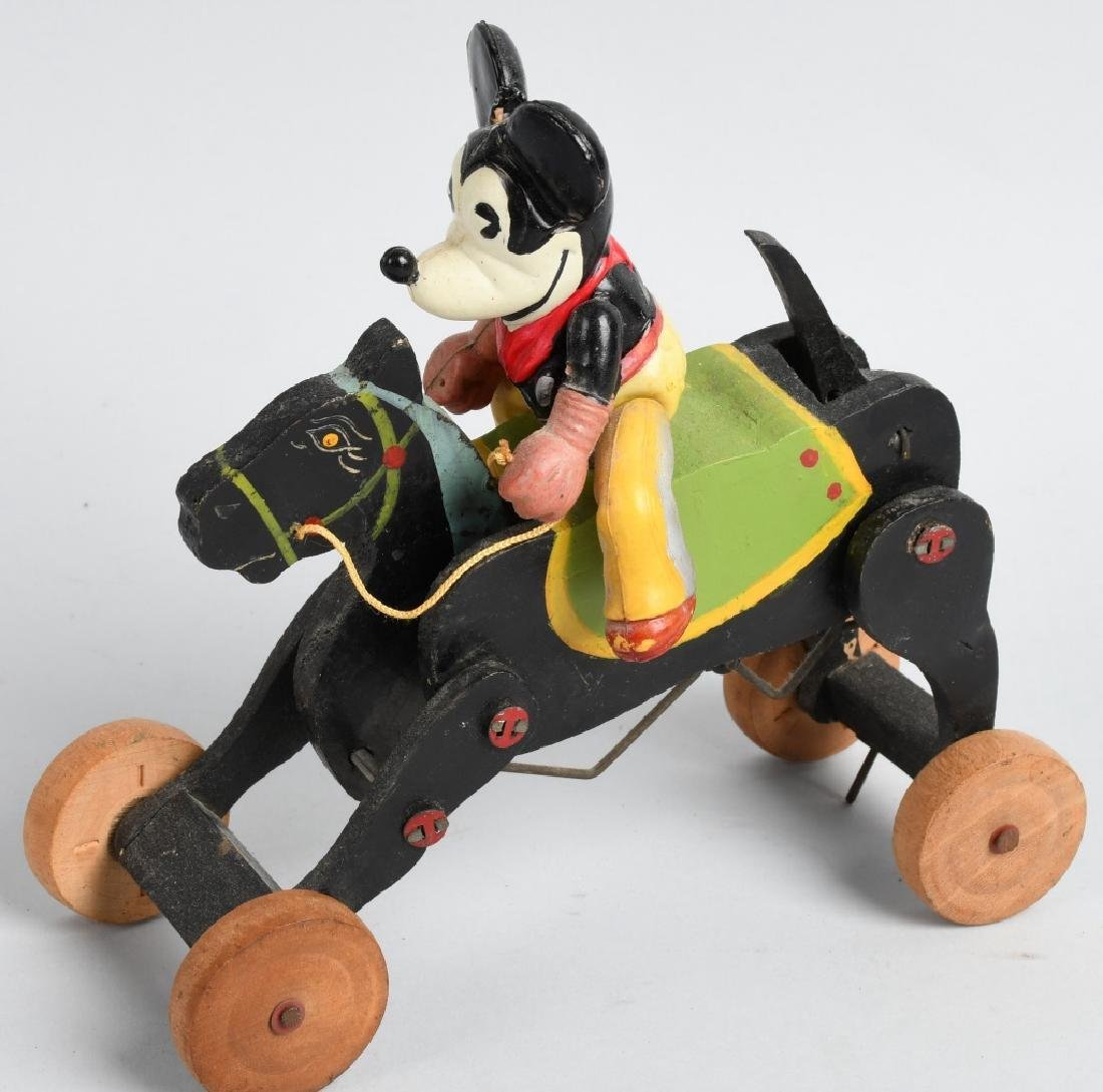 JAPAN WINDUP CELLULOID MICKEY MOUSE COWBOY