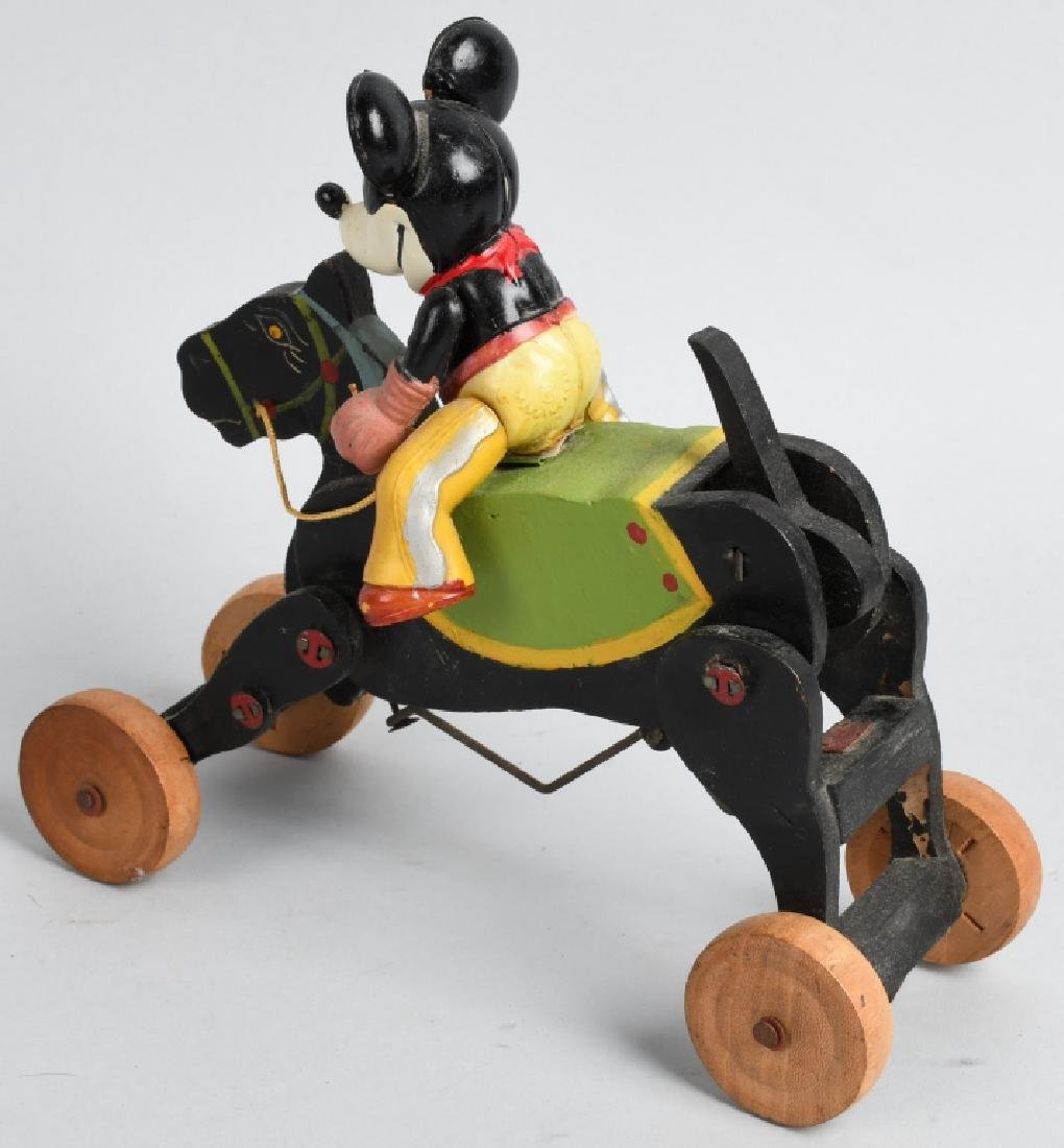 JAPAN WINDUP CELLULOID MICKEY MOUSE COWBOY - 2