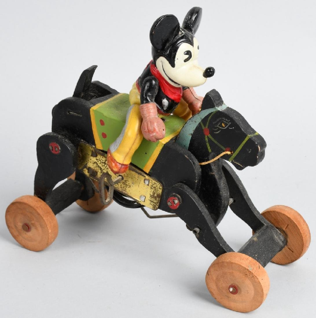 JAPAN WINDUP CELLULOID MICKEY MOUSE COWBOY - 4