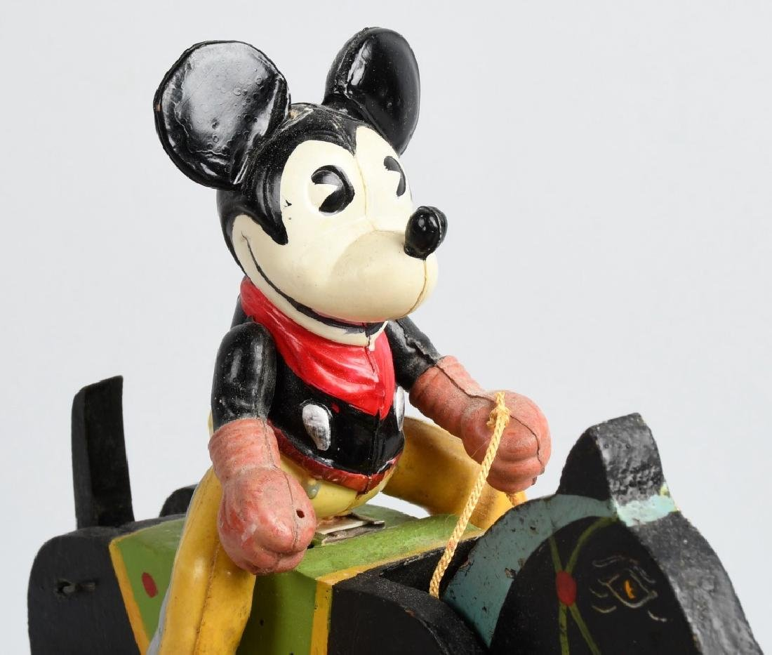 JAPAN WINDUP CELLULOID MICKEY MOUSE COWBOY - 5