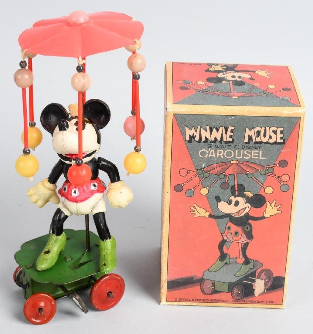 JAPAN Celluloid Windup MINNIE MOUSE WHIRLY GIG