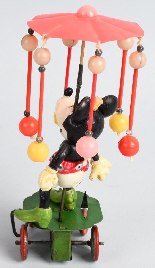 JAPAN Celluloid Windup MINNIE MOUSE WHIRLY GIG - 3