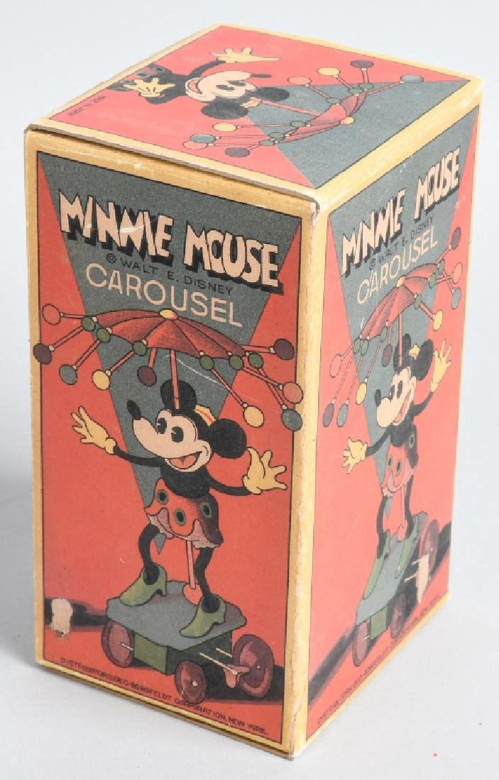 JAPAN Celluloid Windup MINNIE MOUSE WHIRLY GIG - 5