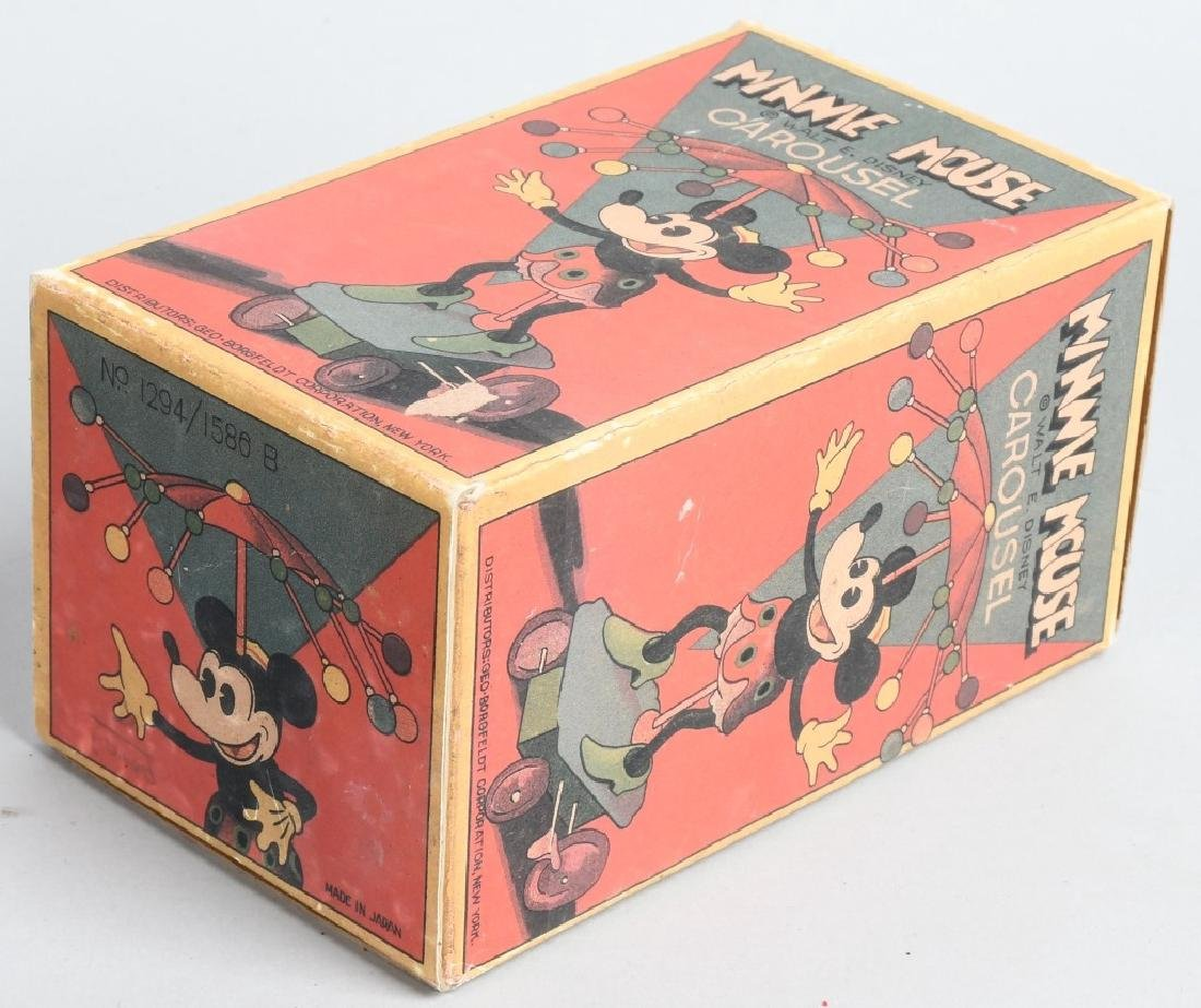 JAPAN Celluloid Windup MINNIE MOUSE WHIRLY GIG - 6