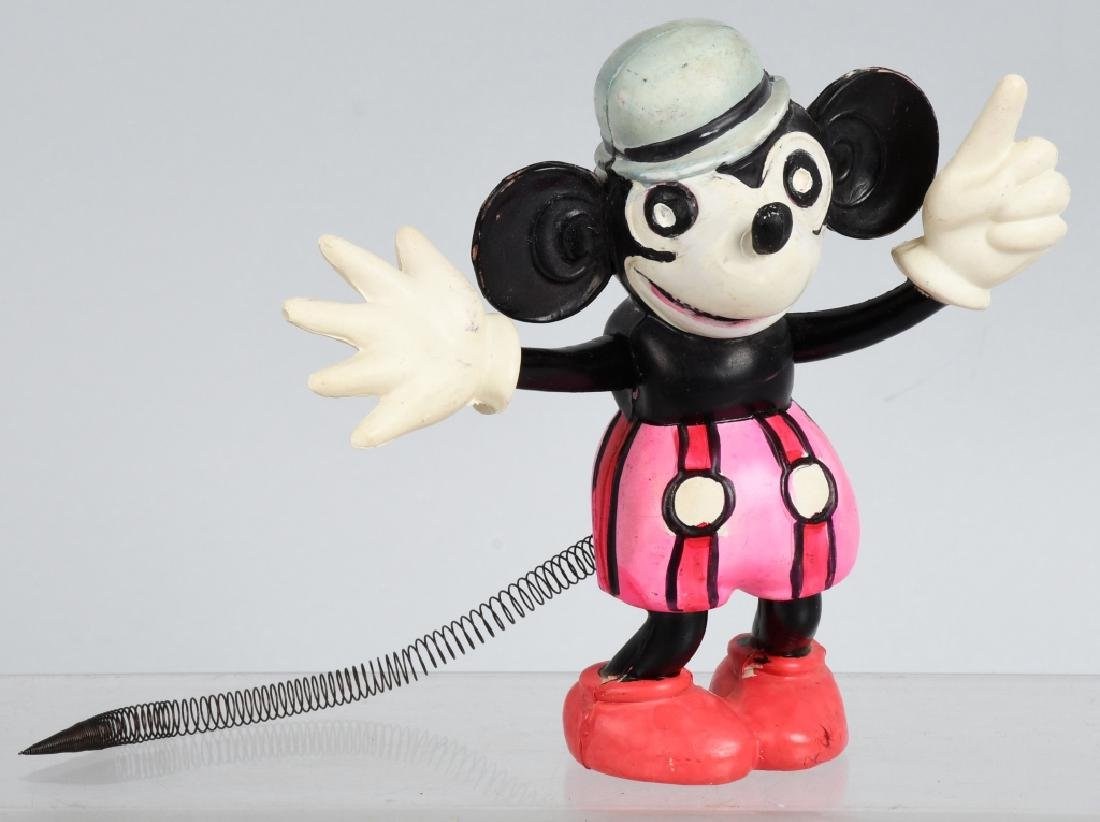JAPAN CELLULOID RAT FACE MICKEY w/ SPRING TAIL