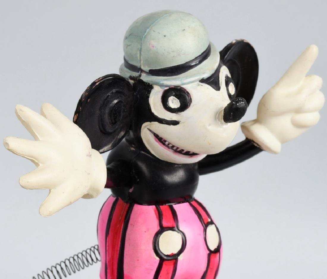 JAPAN CELLULOID RAT FACE MICKEY w/ SPRING TAIL - 2