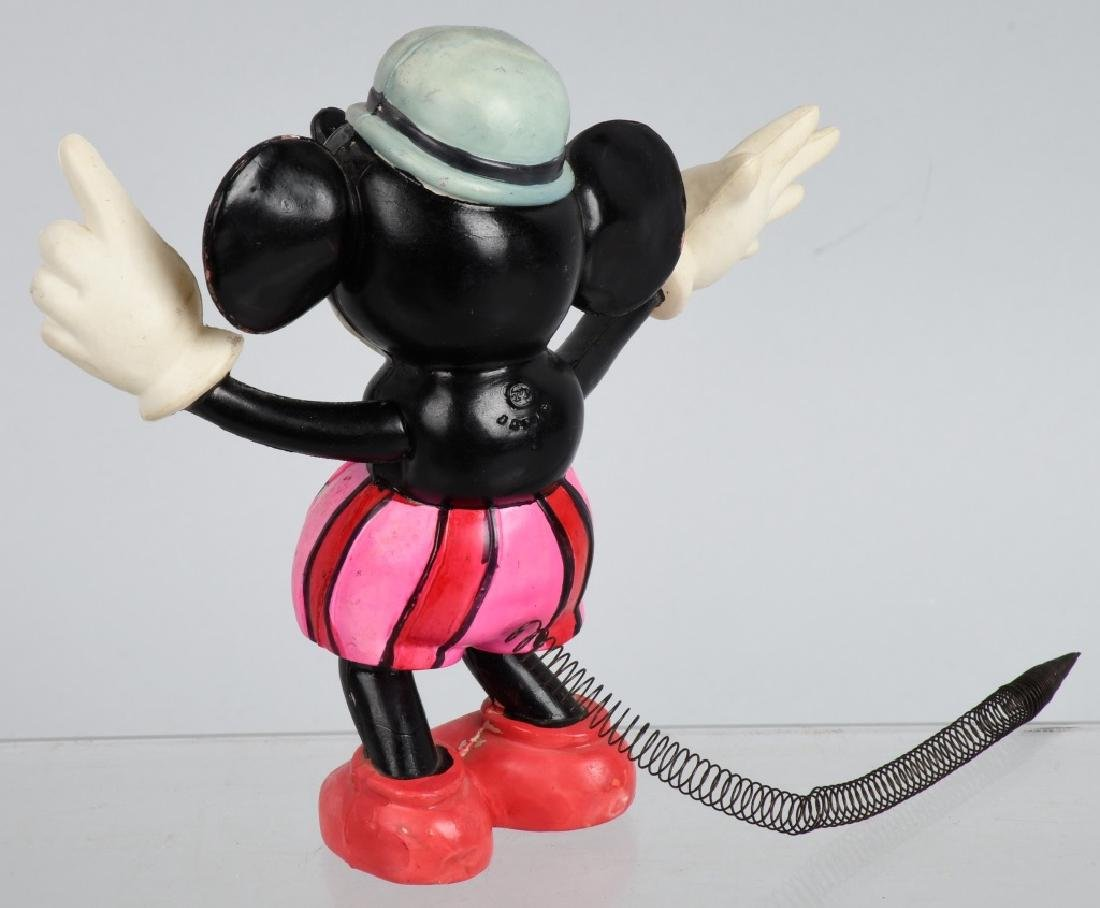 JAPAN CELLULOID RAT FACE MICKEY w/ SPRING TAIL - 3