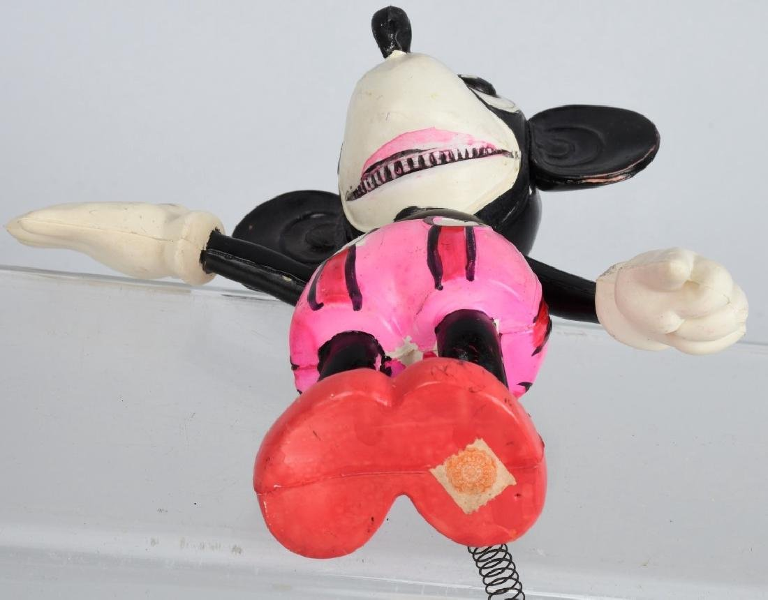 JAPAN CELLULOID RAT FACE MICKEY w/ SPRING TAIL - 6