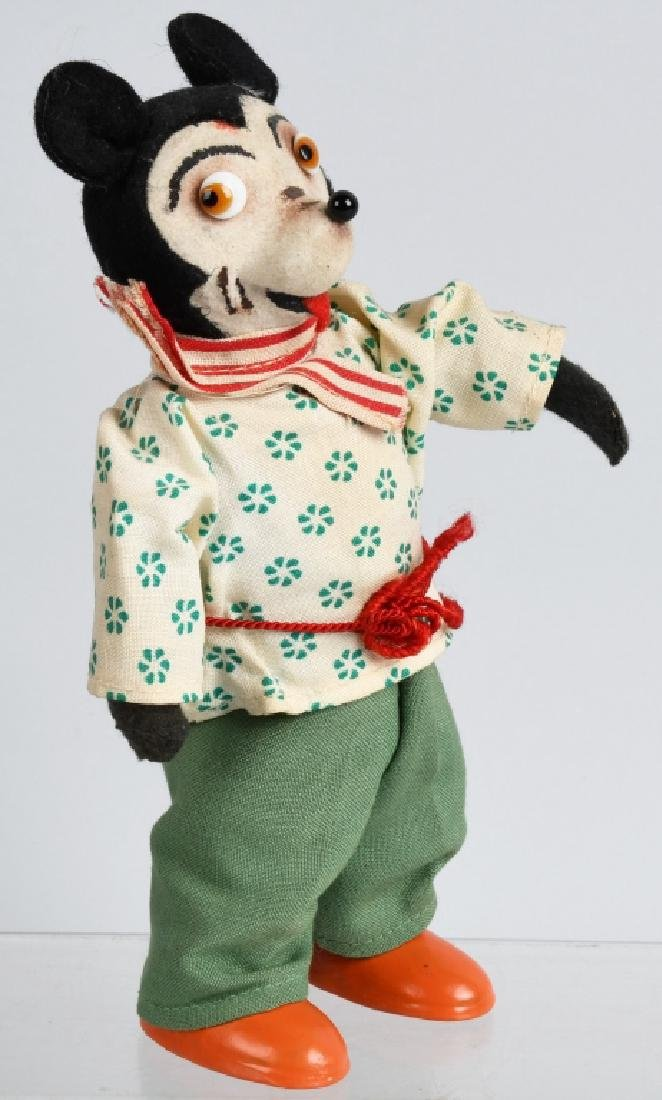 EARLY GERMAN WINDUP MICKEY MOUSE w/ GLASS EYES - 4