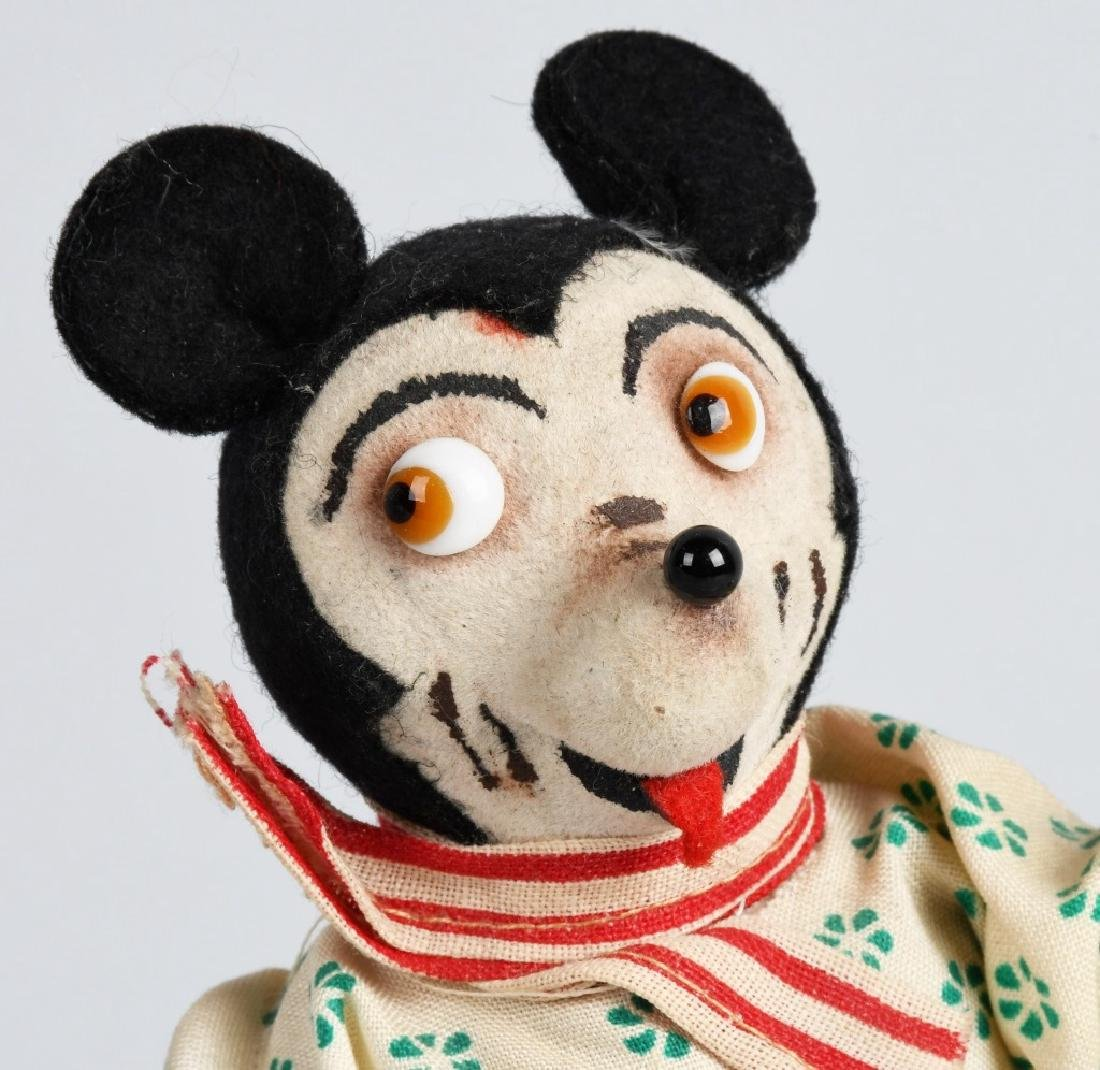 EARLY GERMAN WINDUP MICKEY MOUSE w/ GLASS EYES - 5