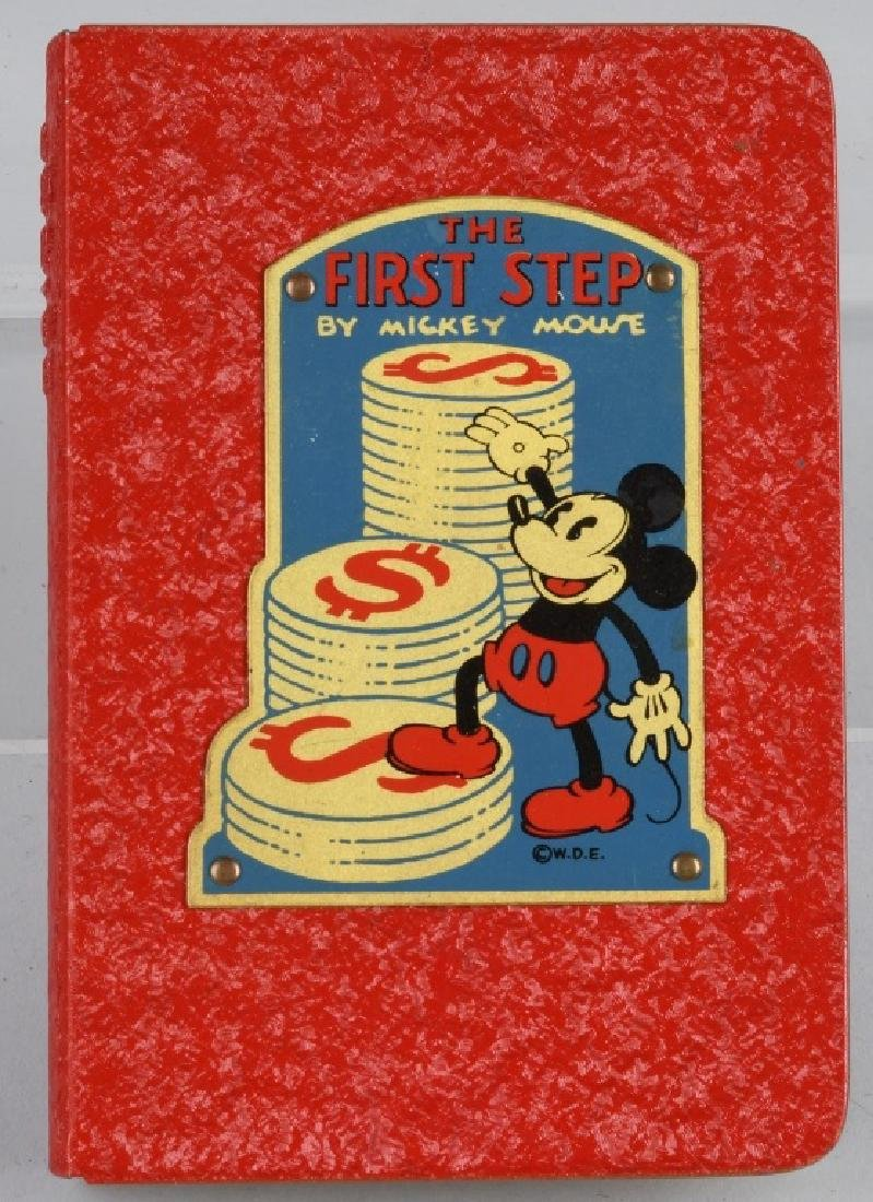 1930's WDE MICKEY MOUSE FIRST STEP BANK