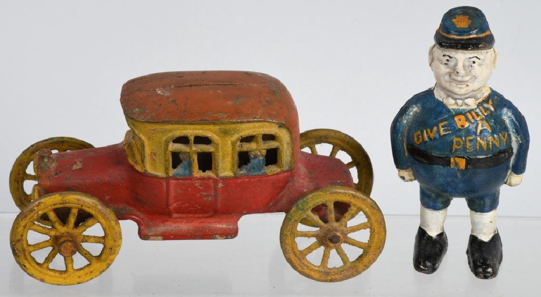 2-EARLY CAST METAL BANKS