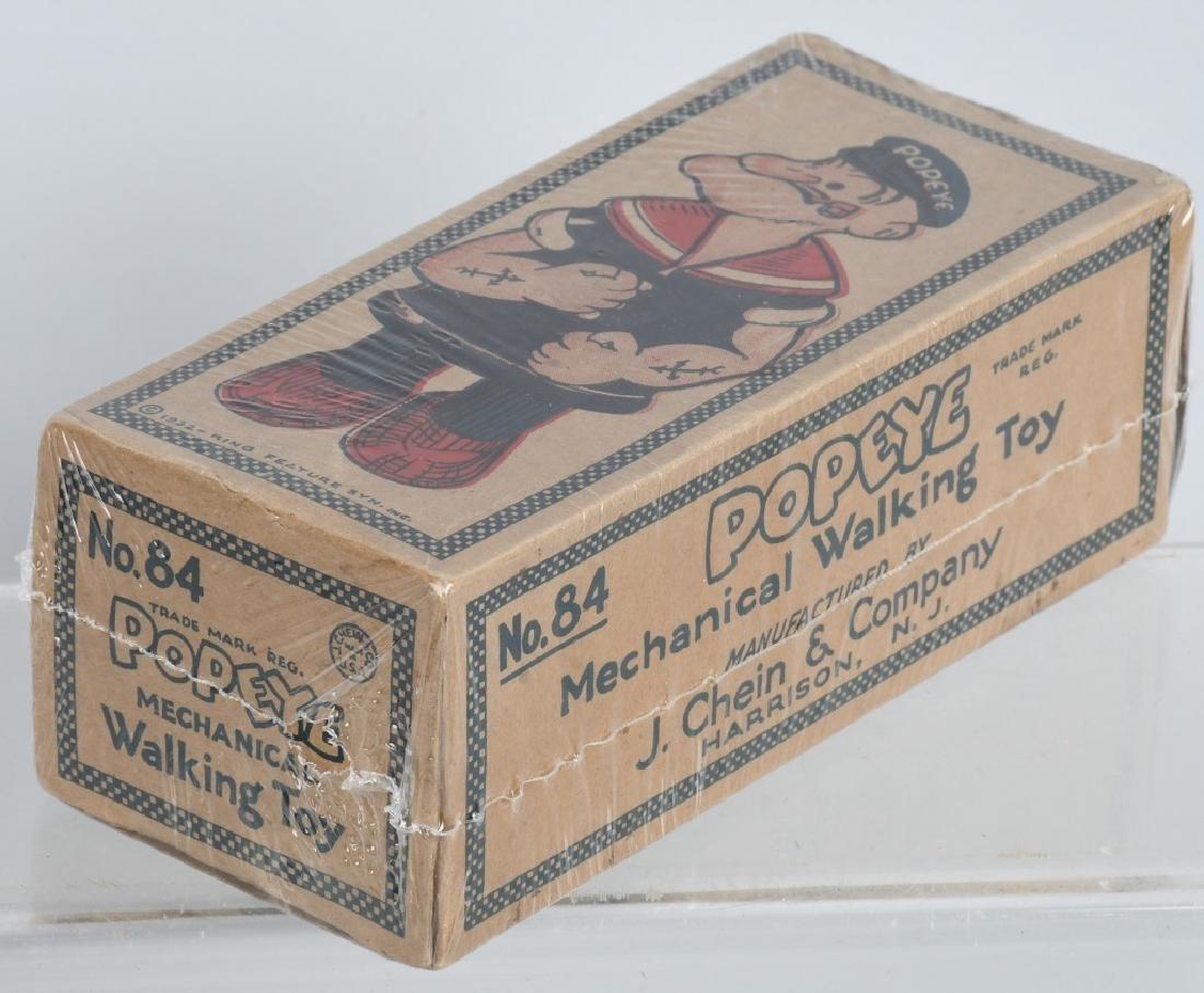 CHEIN Tin Windup POPEYE WADDLER w/ BOX - 7