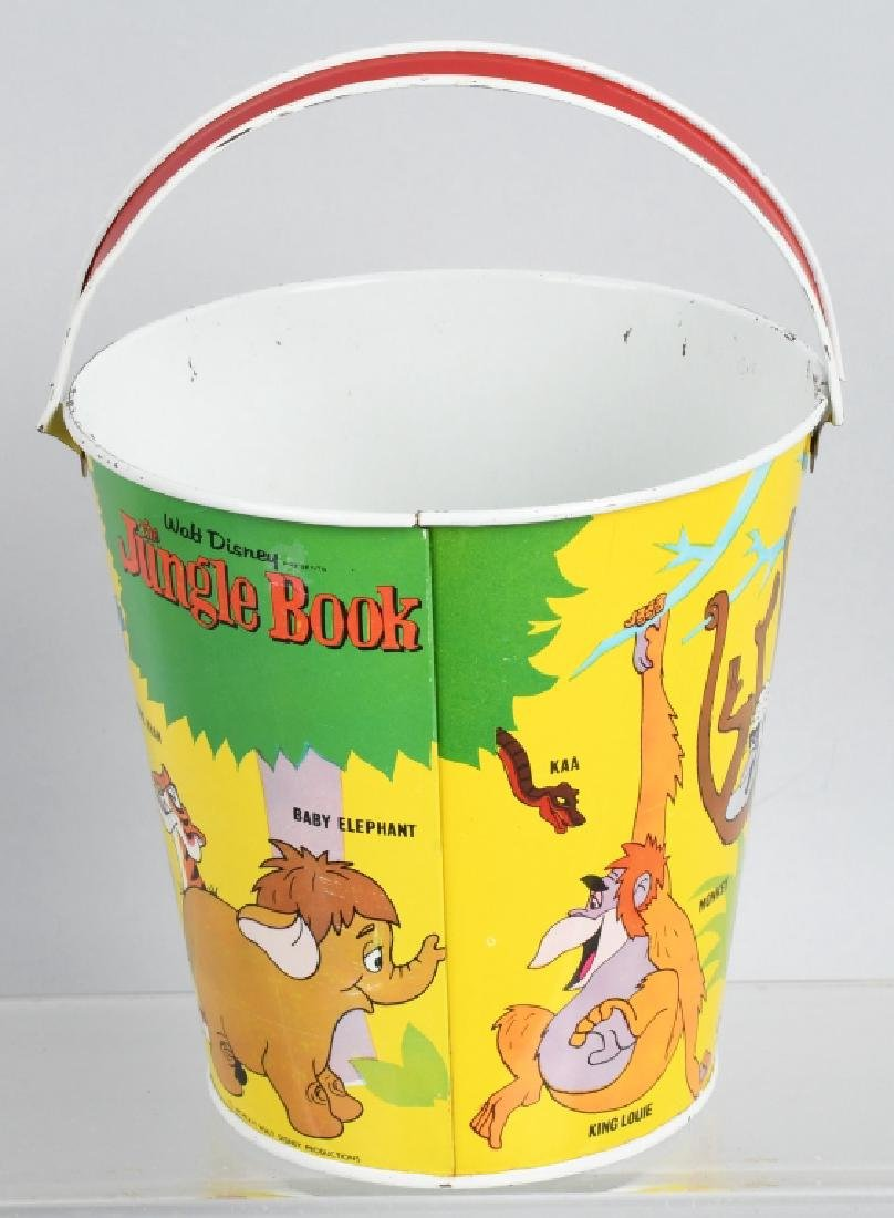 1960'S CHEIN WALT DISNEY'S JUNGLE BOOK TIN PAIL - 3