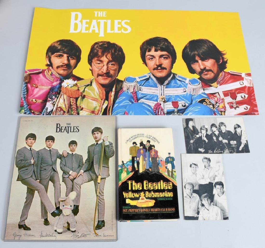 LARGE BEATLES LOT, BUTTONS, POSTERS & MORE - 3