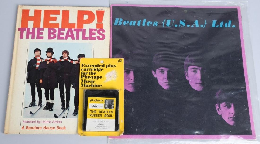 LARGE BEATLES LOT, BUTTONS, POSTERS & MORE - 6
