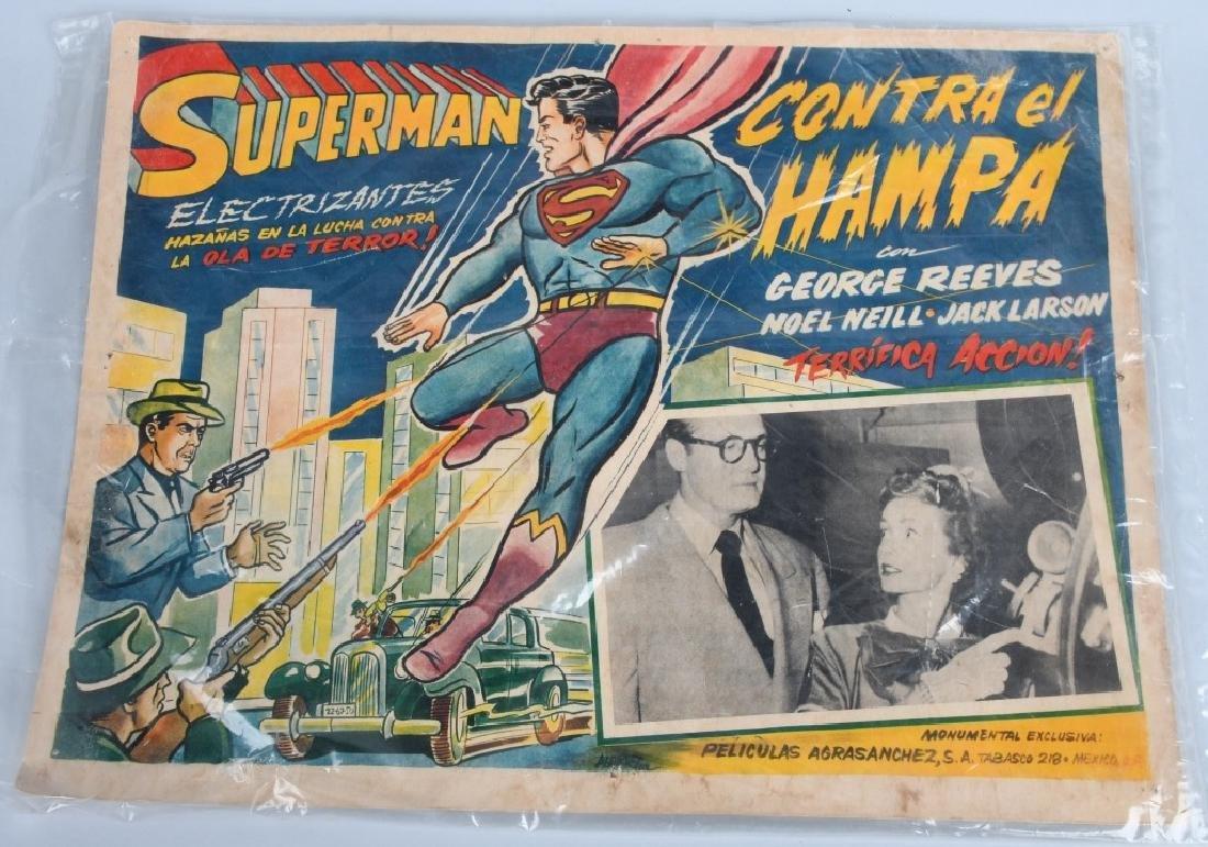 VINTAGE SUPERMAN COLOR MOVIE LOBBY CARD