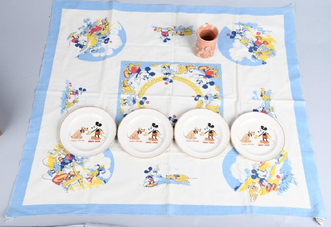 1930'S MICKEY MOUSE & PLUTO CHINA & MORE