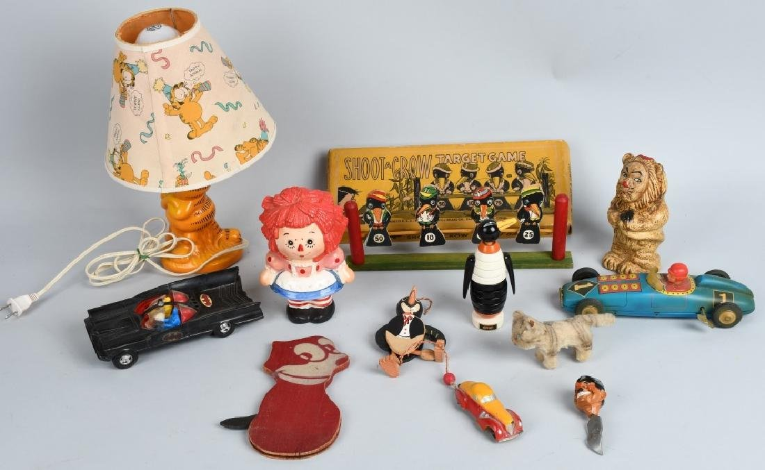 VINTAGE TOY LOT, BATMAN, GARFIELD and MORE