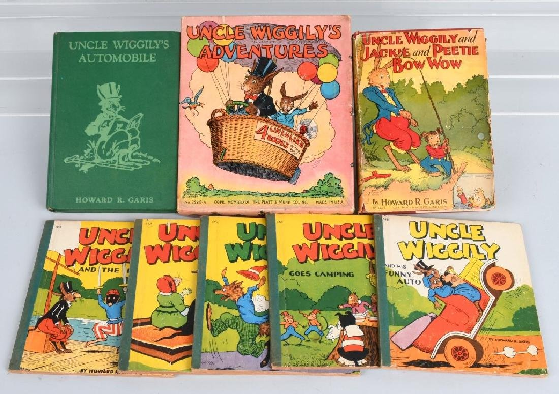 11-VINTAGE UNCLE WIGGLY BOOK LOT