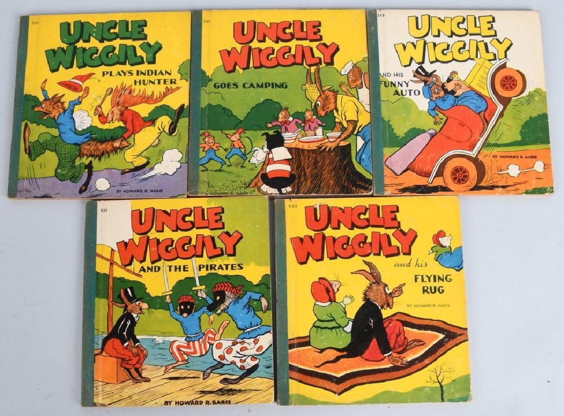 11-VINTAGE UNCLE WIGGLY BOOK LOT - 3