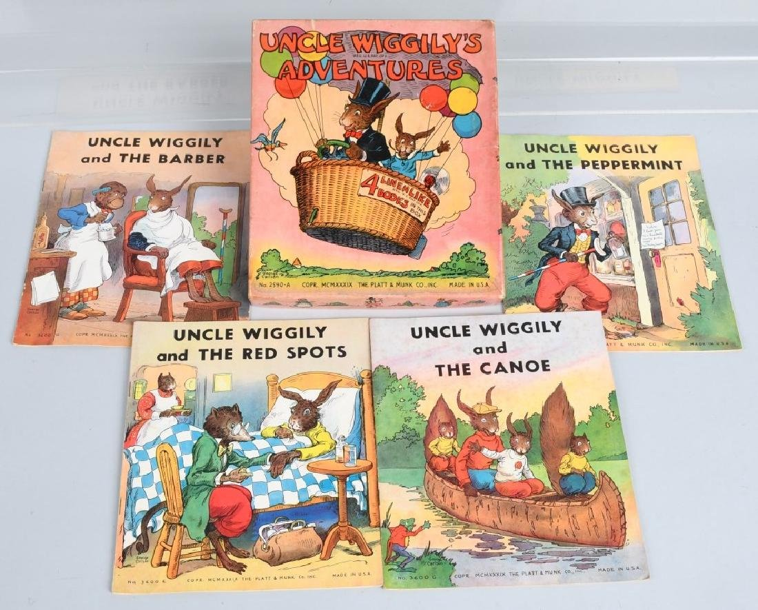 11-VINTAGE UNCLE WIGGLY BOOK LOT - 4