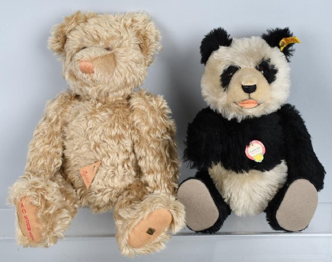 2-VINTAGE TOY BEARS,STEIFF and SIGIKID, FAO SCWART