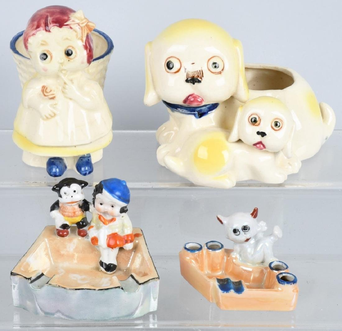 4-BETTY BOOP & BIMBO CERAMIC FIGURES