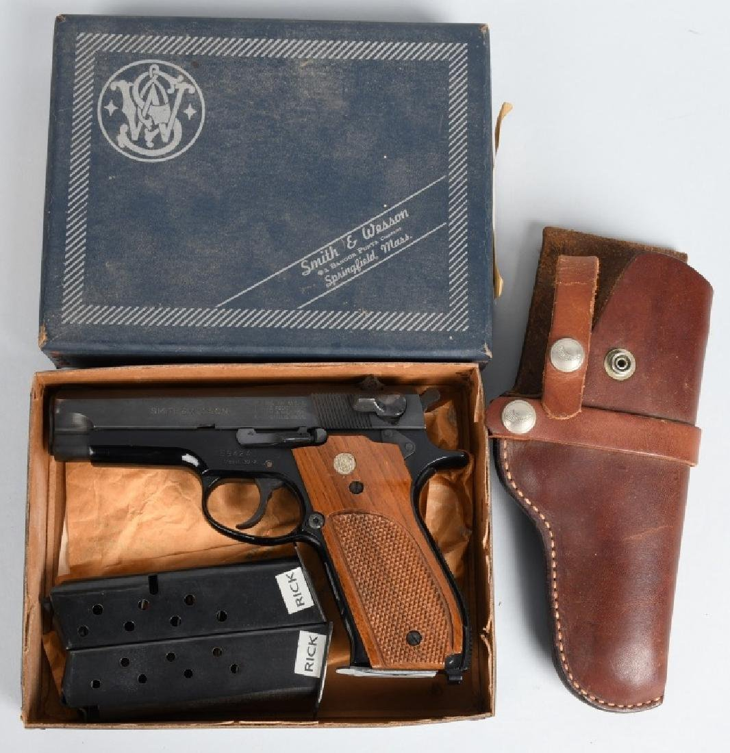 SMITH & WESSON, MODEL 39-2, 9mm PISTOL, BOXED