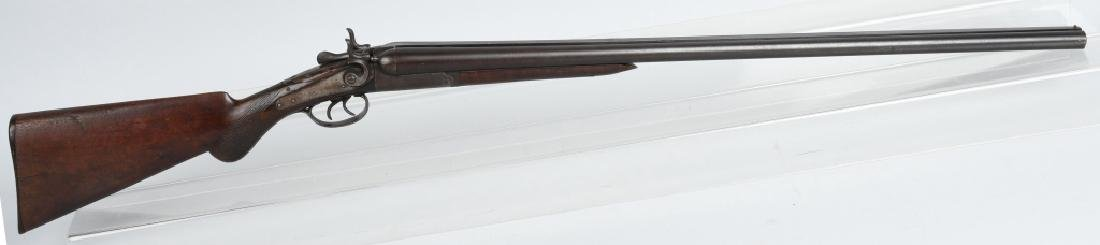 T. BARKER NEW YORK, 12 GA. S X S SHOTGUN