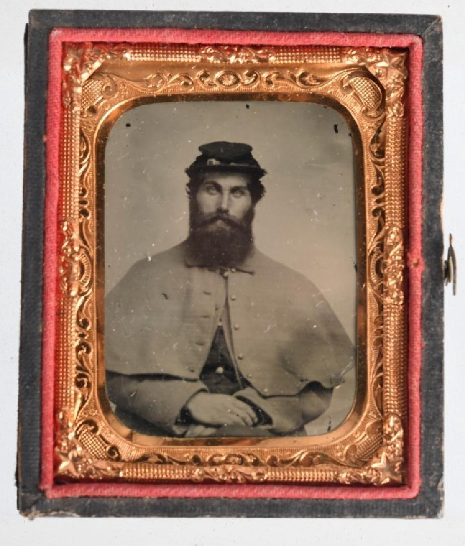 CIVIL WAR 1/9TH PLATE AMBROTYPE INFANTRY SOLDIER