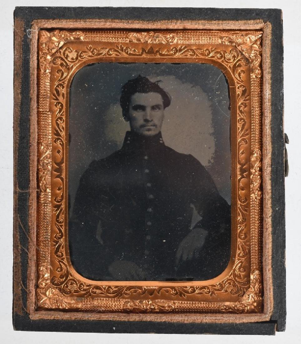 CIVIL WAR 1/9TH PLATE AMBROTYPE UNION SOLDIER