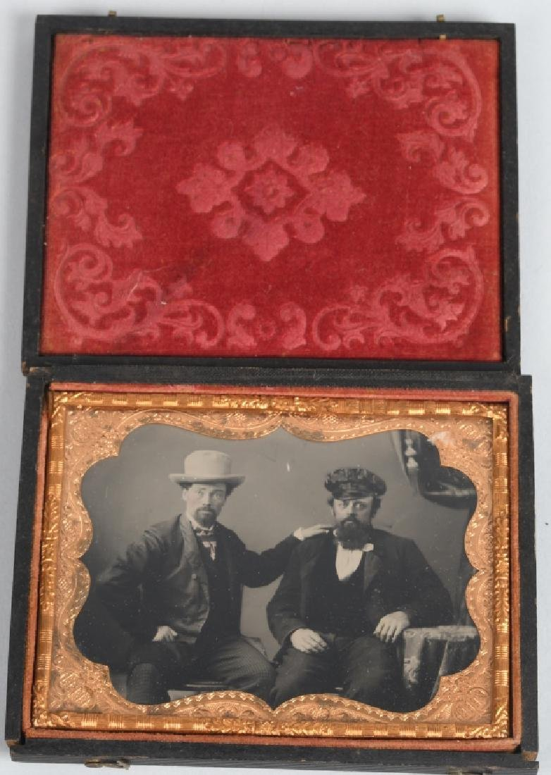 1/4 PLATE RUBY AMBROTYPE 2 MEN FROM LEWISBURG WVA