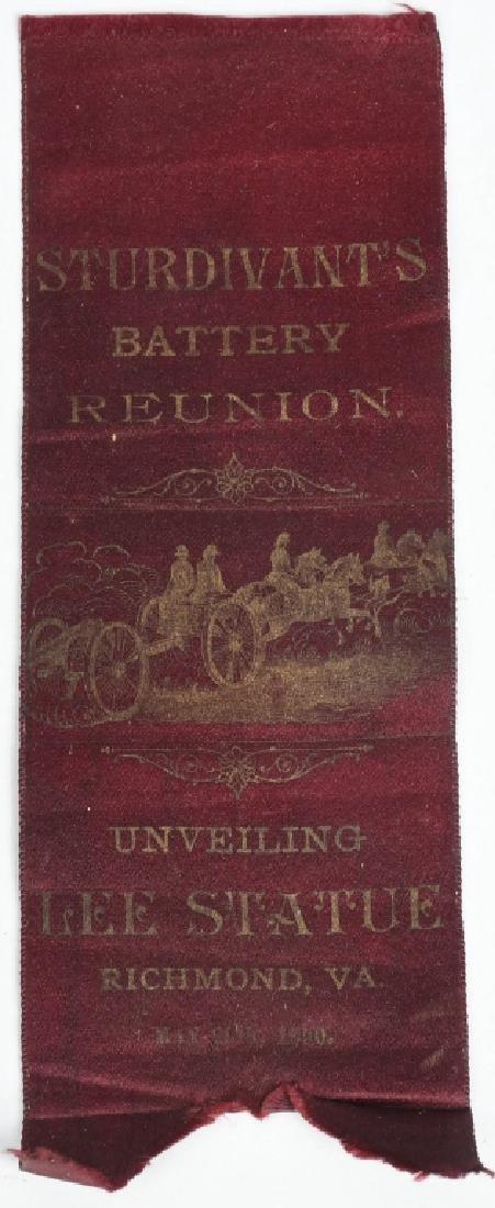 CIVIL WAR CONFEDERATE UCV REUNION RIBBON