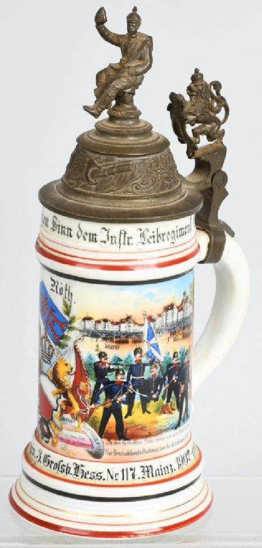 IMPERIAL GERMAN - HESSIAN LITHOPANE STEIN