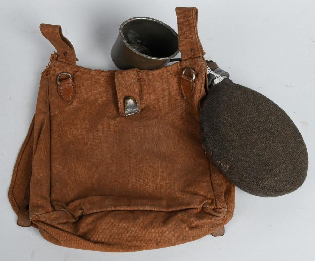 WWI GERMAN M 93 BREAD BAG , CANTEEN & CUP