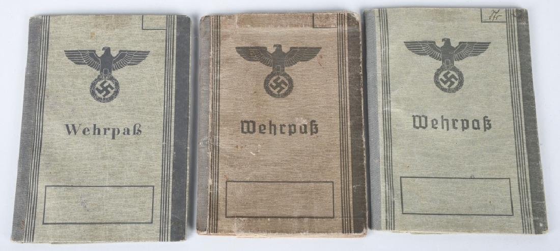 WWII NAZI GERMAN WEHRPASS LOT