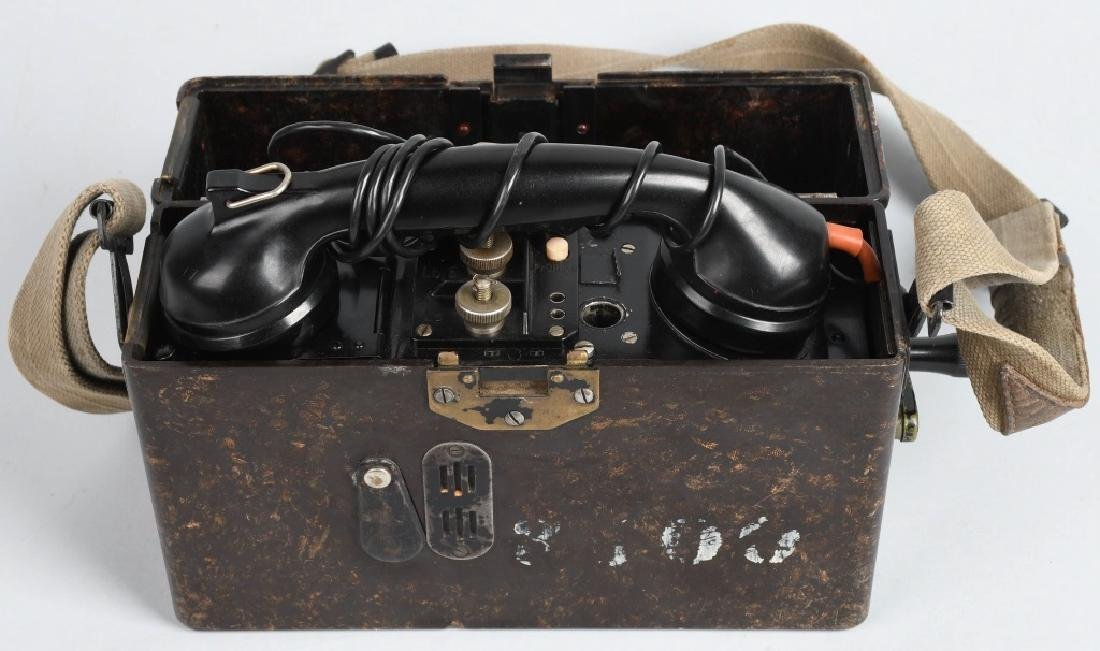 WWII NAZI GERMAN BAKELITE FIELD TELEPHONE