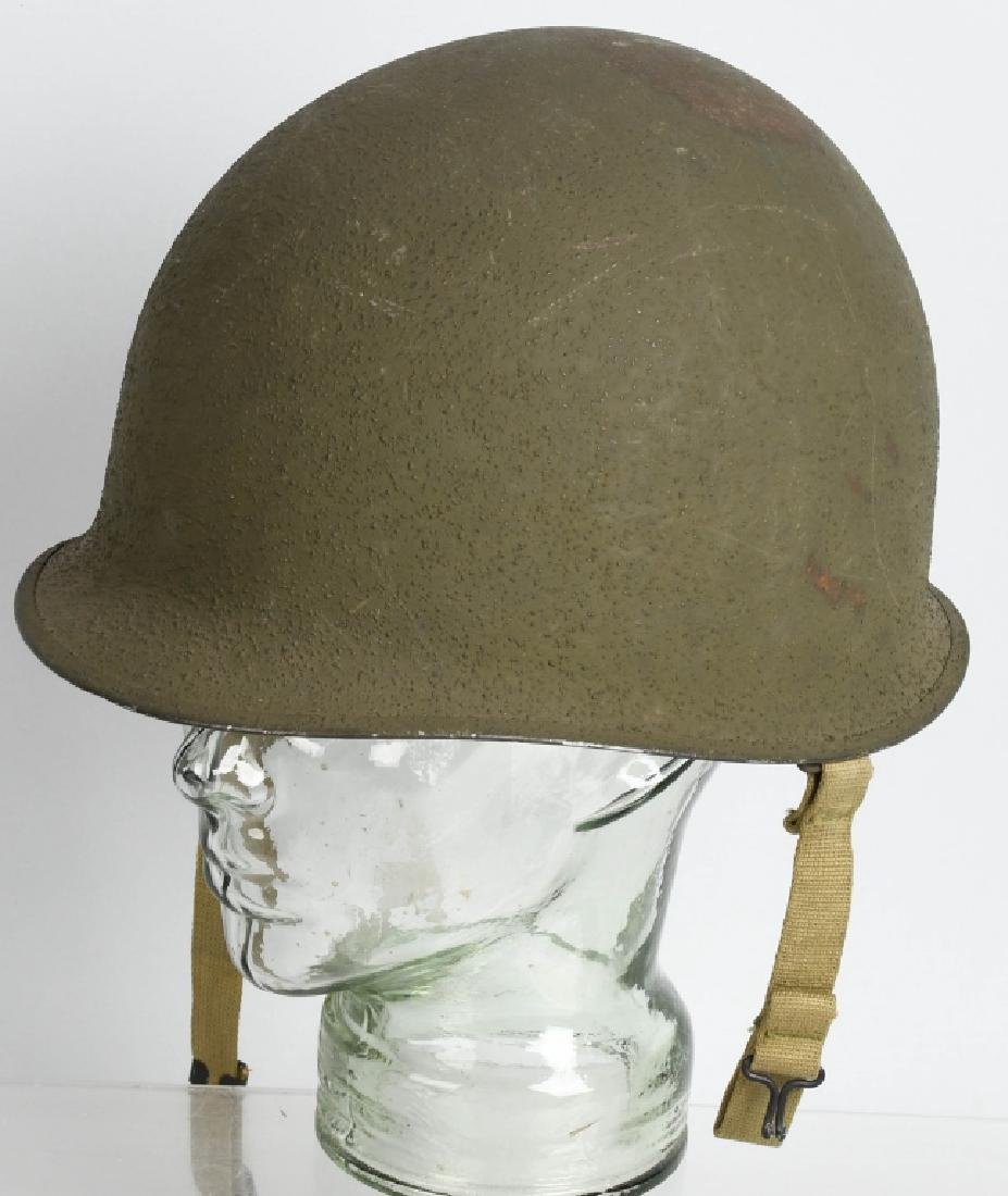 WWII U.S. ARMY FIXED BALE FRONT SEAM M-1 HELMET