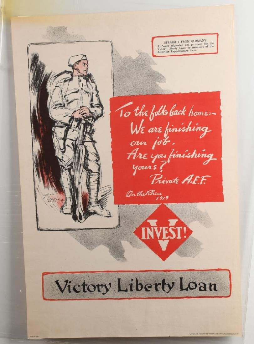 WW1 C LEROY BALDRIDGE VICTORY LIBERTY LOAN POSTER